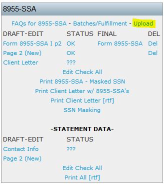 How do I upload data to populate my Form 8955-SSA? – ftwilliam.com Help  Center